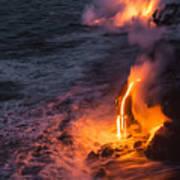 Kilauea Volcano Lava Flow Sea Entry 6 - The Big Island Hawaii Art Print