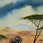 Kilimanjaro Bull Art Print