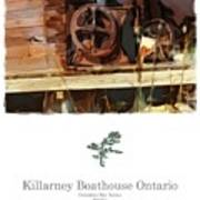 Killarney  Ontario Boathouse Poster Series Art Print
