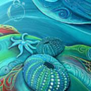 Kina Sea Anemone With  Stingray By Reina Cottier Art Print