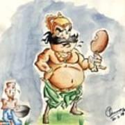 King And Beggar Art Print by Tanmay Singh