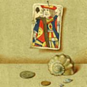 King And Seashell Art Print