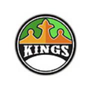 King Crown Kings Circle Retro Art Print