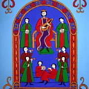 King David And His Musicians Art Print