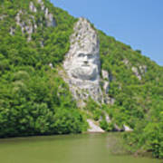 King Decebal, Rock Sculpture Art Print