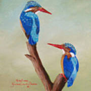 King Fishers Art Print