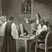 King James II Of England Facing Bishops Art Print