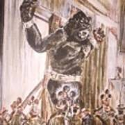 King Kong - Flashbulbs Anger Kong Art Print