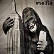 King Kong Selfie Art Print