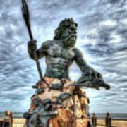 King Neptune Virginia Beach  Art Print