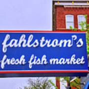 King Of Fish Fish Market  Art Print