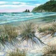 King Tide-whangamata Nz Art Print