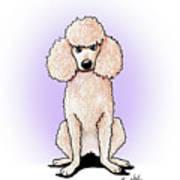 Kiniart Poodle Art Print