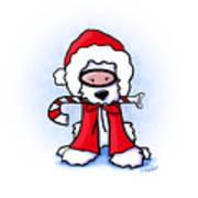 Kiniart Snorkel Westie Santa Art Print