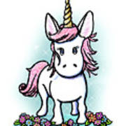 Kiniart Unicorn Sparkle Art Print