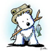 Kiniart Westie Fisherman Art Print