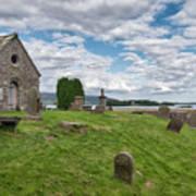 Kinross Cemetery On Loch Leven Art Print