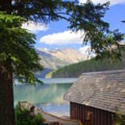 Kintla Lake Ranger Station Glacier National Park Art Print