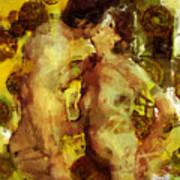 Kiss Me Print by Kurt Van Wagner