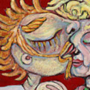 Kiss On The Nose Art Print