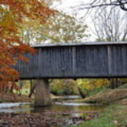 Kissing Bridge At Fall Art Print