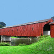 Kissing Bridge Of West Montrose Art Print