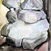 Kissing Rocks Art Print by Jane Clatworthy