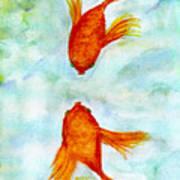 Kissy Fish Art Print