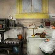 Kitchen - How I Bake Bread 1923 Art Print
