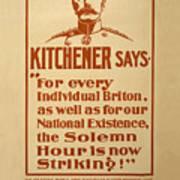 Kitchener Redux - Vote Art Print