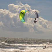 Kite Boarding Buxton Obx  Art Print