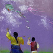Kite Flying Art Print by Mui-Joo Wee