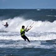 Kite Surfing Art Print
