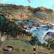 Kites At Bathsheba Art Print