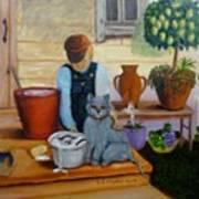 Kitten Bath Art Print