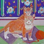 Kittens With Wild Wool Art Print