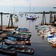 Kittery Point Fishing Boats Art Print
