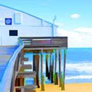 Kitty Hawk Pier 2 Art Print