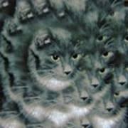 Kitty Portrait  Art Print
