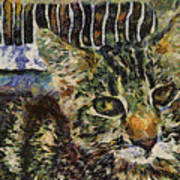 Kitty Vangoghed Art Print