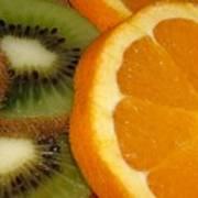 Kiwi And Orange Art Print