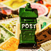 Kiwi Postage Scene Art Print