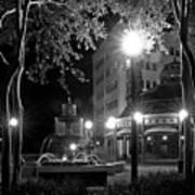 Kleman Plaza At Night Art Print