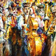Klezmer Cats - Palette Knife Oil Painting On Canvas By Leonid Afremov Art Print