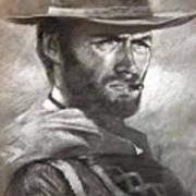Klint Eastwood Art Print