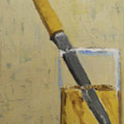 Knife In Glass - After Diebenkorn Art Print