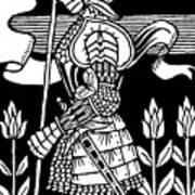 Knight Of Arthur, Preparing To Go Into Battle Art Print