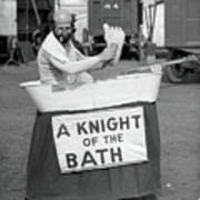 Knight Of The Bath Art Print