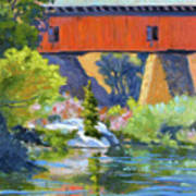 Knights Ferry Bridge Art Print