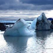 Knik Glacier Icebergs Art Print